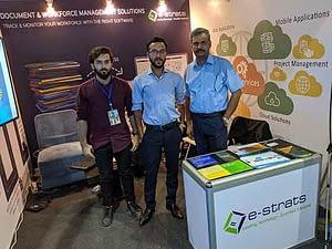 team e-strats in Karachi IT tradeshow