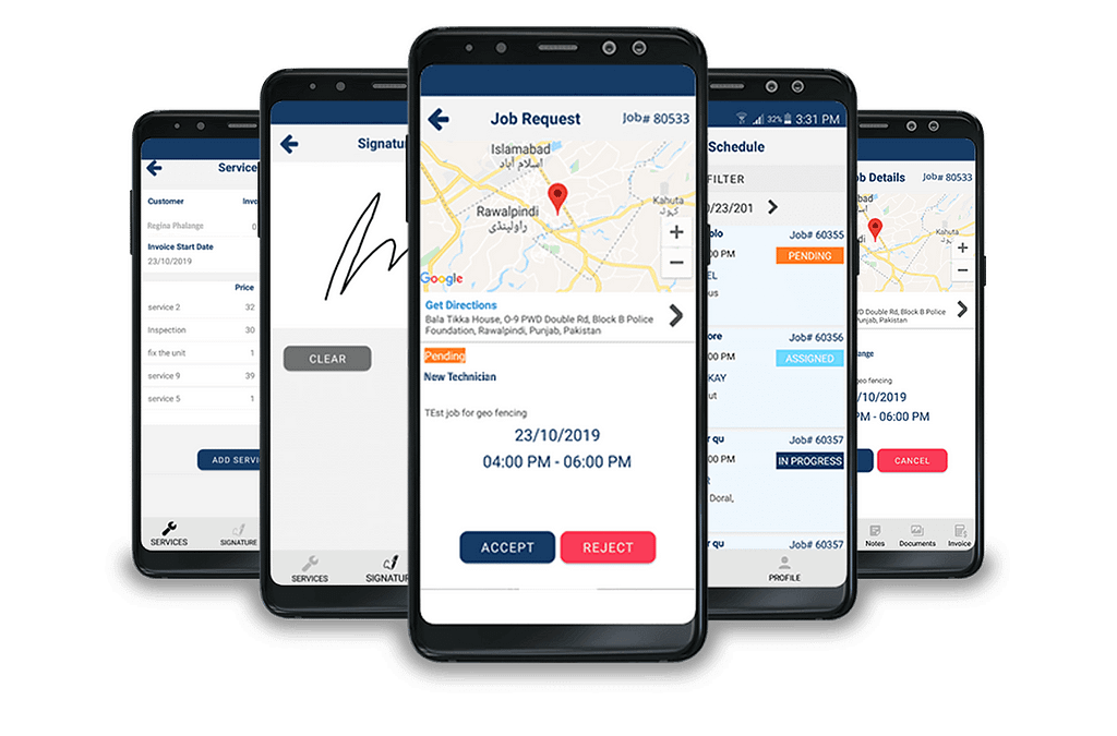 sales rep tracking app by e-strats